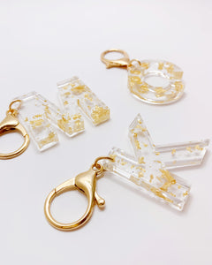 Resin Initial Keychains