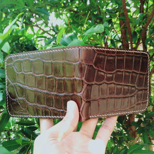 Wallet made of genuine crocodile skin Handmade
