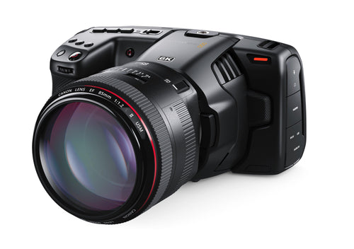Lens not included in the Blackmagic Pocket Cinema Camera 6K but can be purchased separately