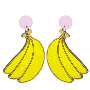 Banana Stud Dangle Earrings