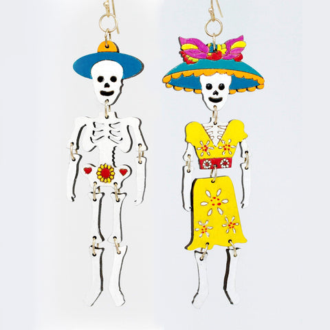 Catrina Dangle Earrings Yellow