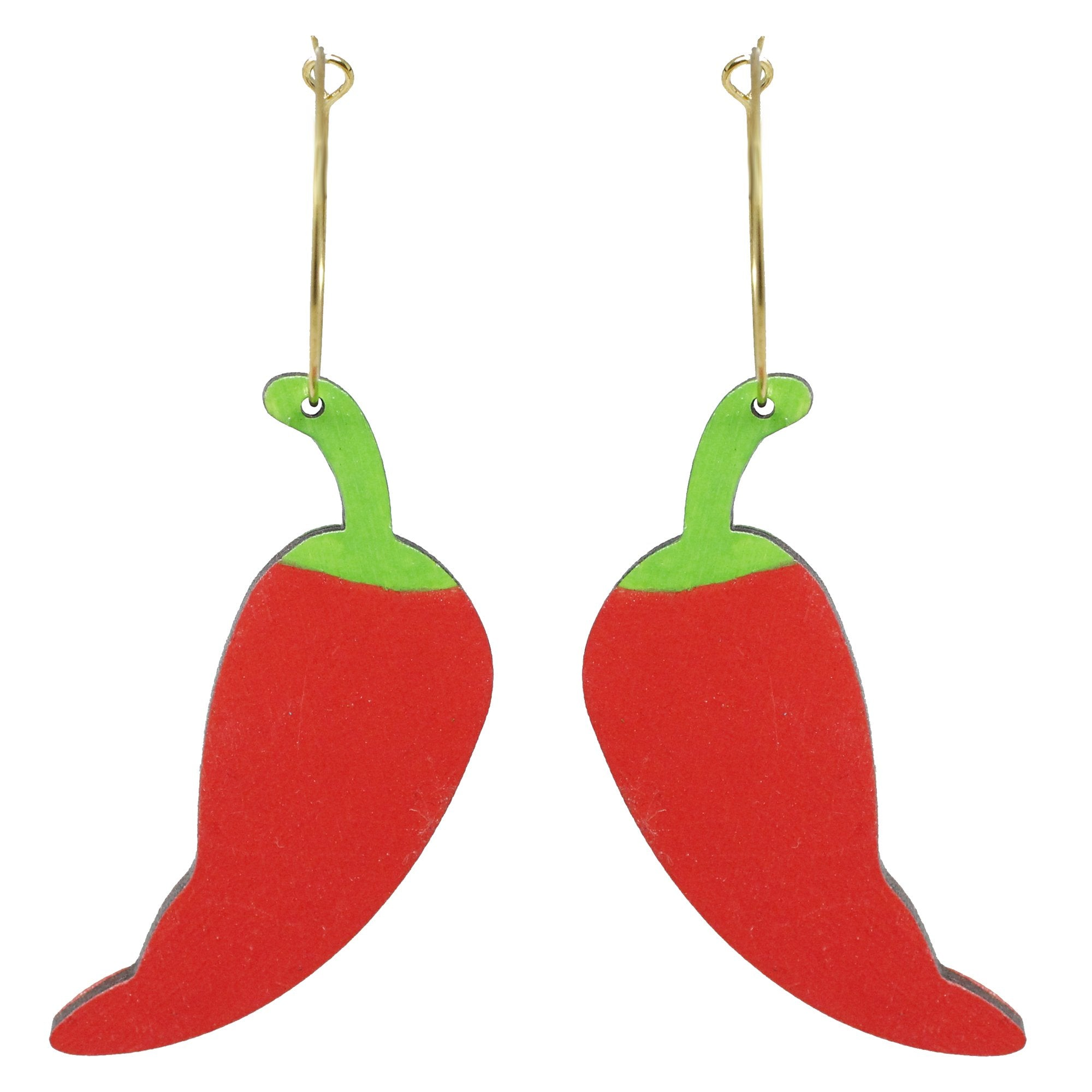 Chili Hoops Earrings