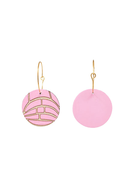 Pink Concha Hoop Earrings
