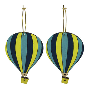 Hot Air Balloon Earrings, Balloo Fiesta Earrings
