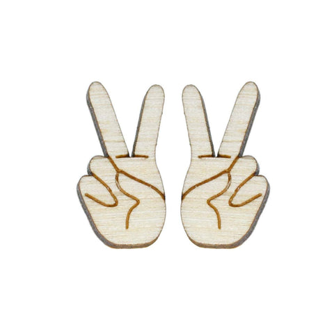Peace Sign Studs Earrings