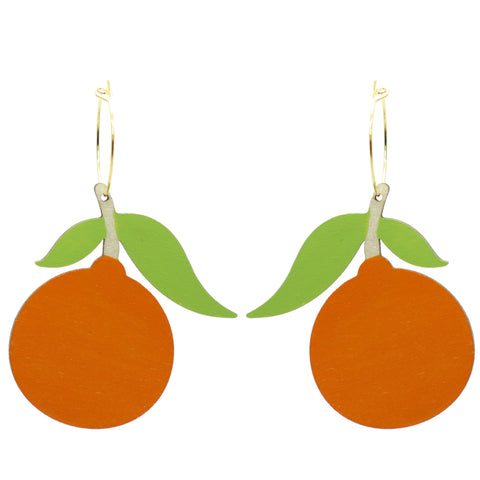 Tangerine Hoop Earrings