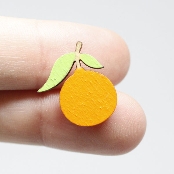 Tangerine Stud Earrings