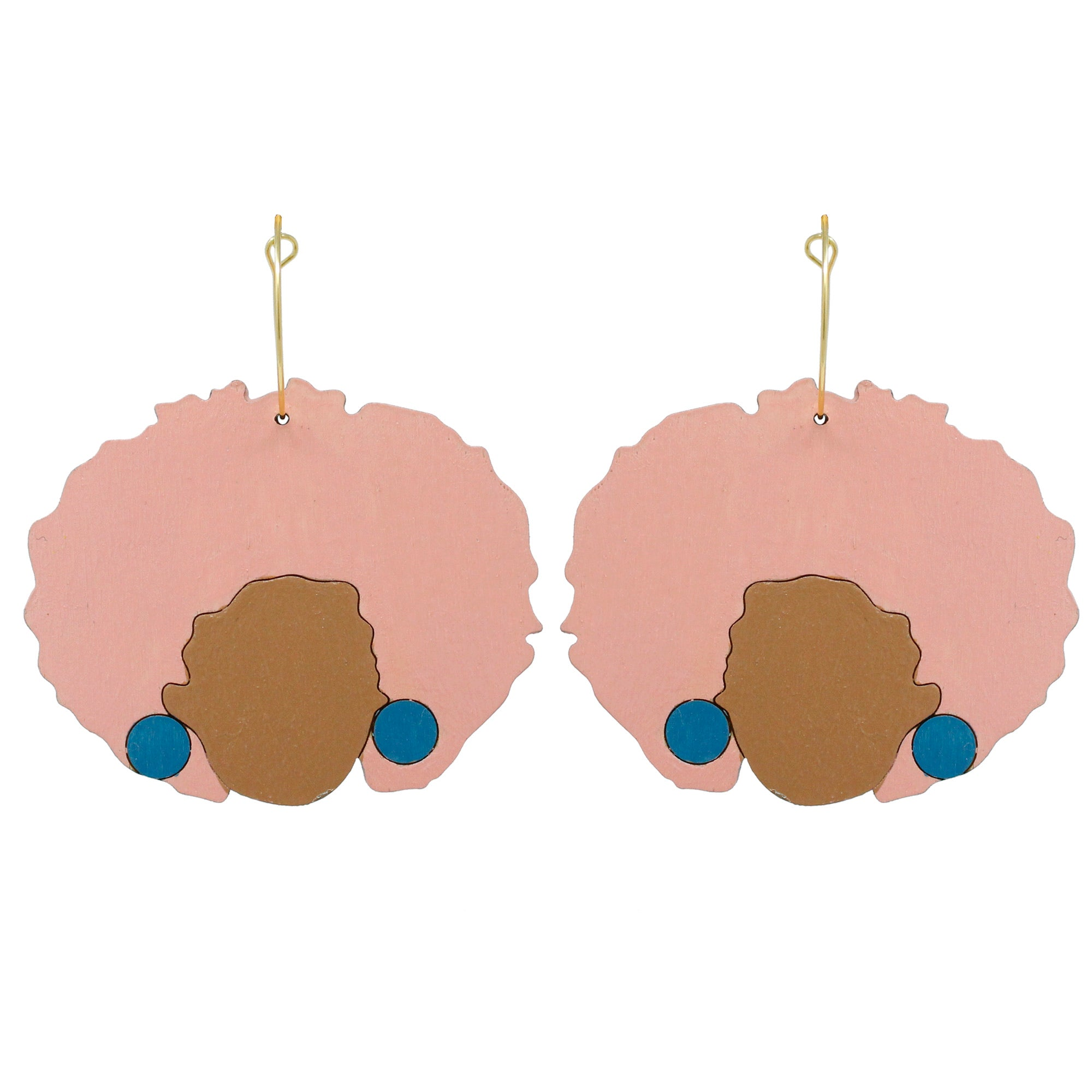 Shelley Pink Hoop Earrings