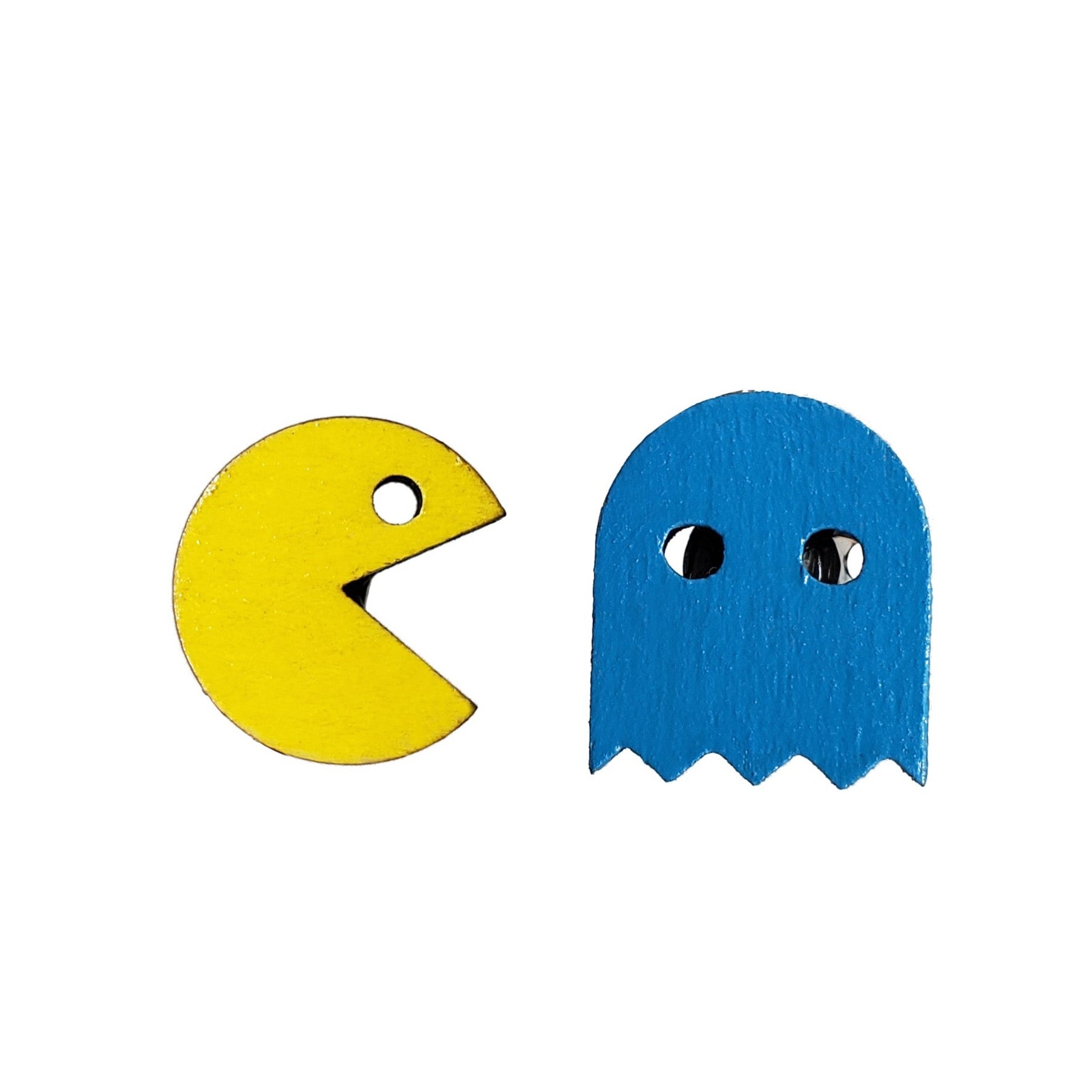 PAC-MAN with Blue Ghost Studs