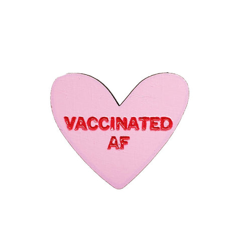 Vaccinated AF Pink Pin