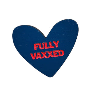 Fully Vaxxed Navy Pin