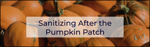 Sanitizing After the Pumpkin Patch
