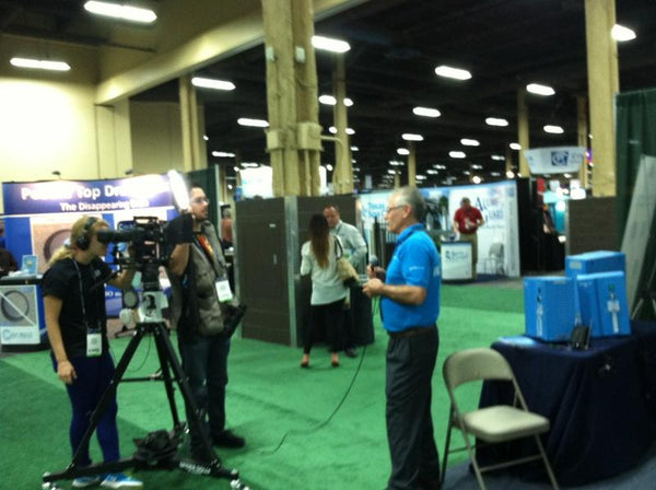Ali Noroozi Being Interviewed for WATERTV at the Spa Pool show.