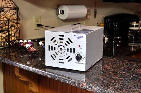 A-7000 Ozone Generator close-up on counter