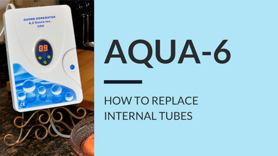 how to replace internal tubes in aqua 6 ozone generator air water oil applications