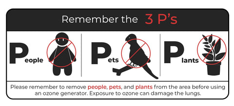 No People, Pets, or Plants around Ozone!