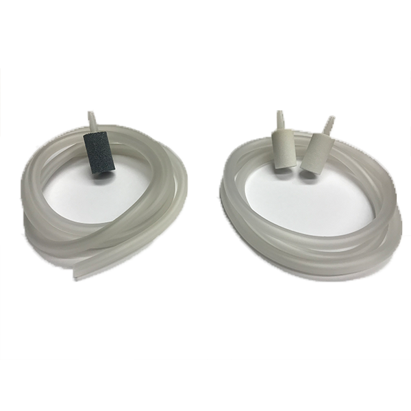 Aqua-6 Ozone Resistant Oblong Diffuser Stone and Tubing Set--2 White and 1 Gray Stone