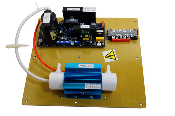 SP-3G Ozone Generator Plate, Board, Cell, and Transformer, Side View