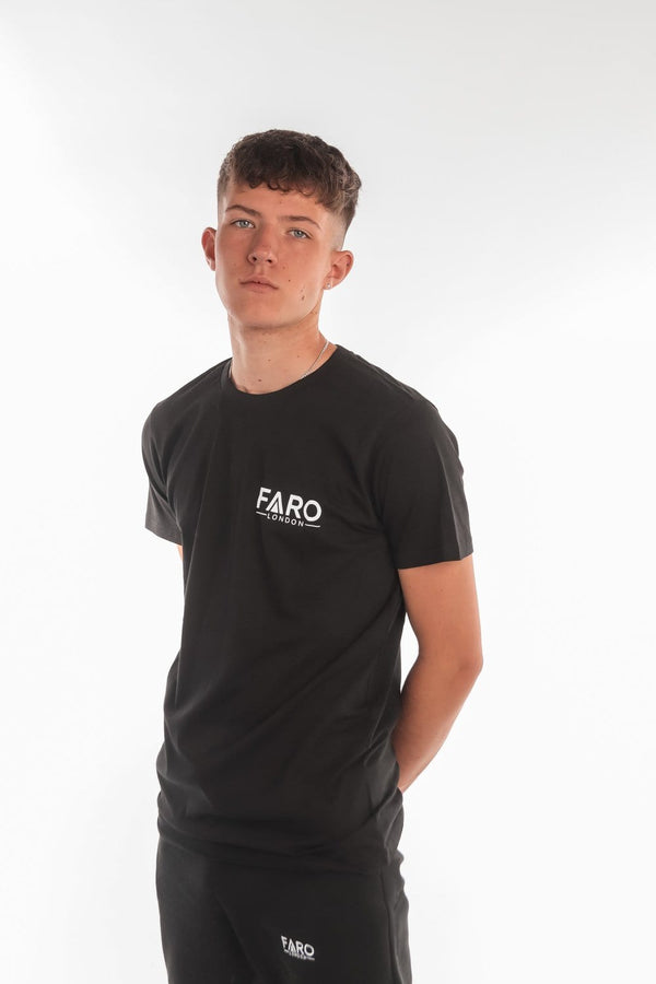 FARO LONDON SMALL LOGO T-SHIRT - BLACK