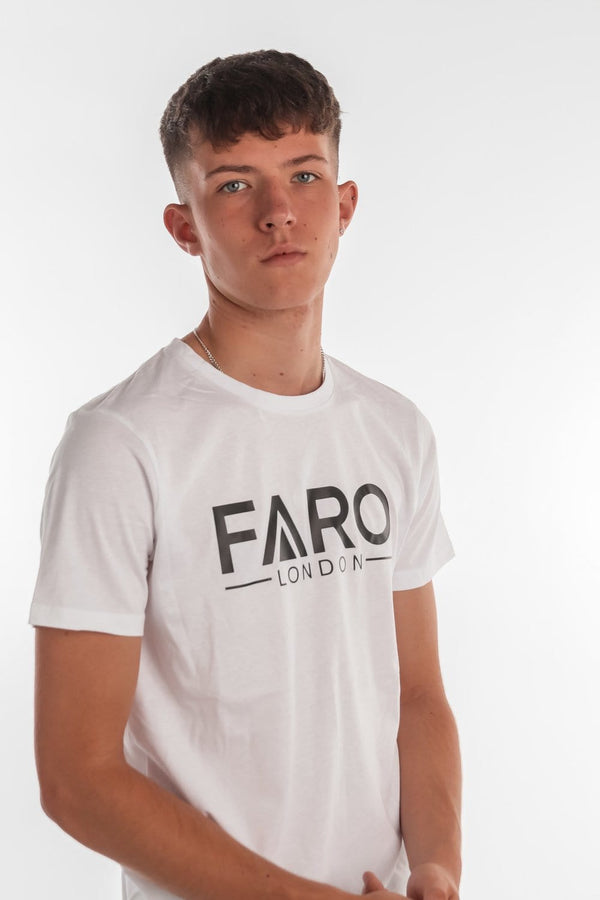 FARO LONDON LOGO T-SHIRT - WHITE