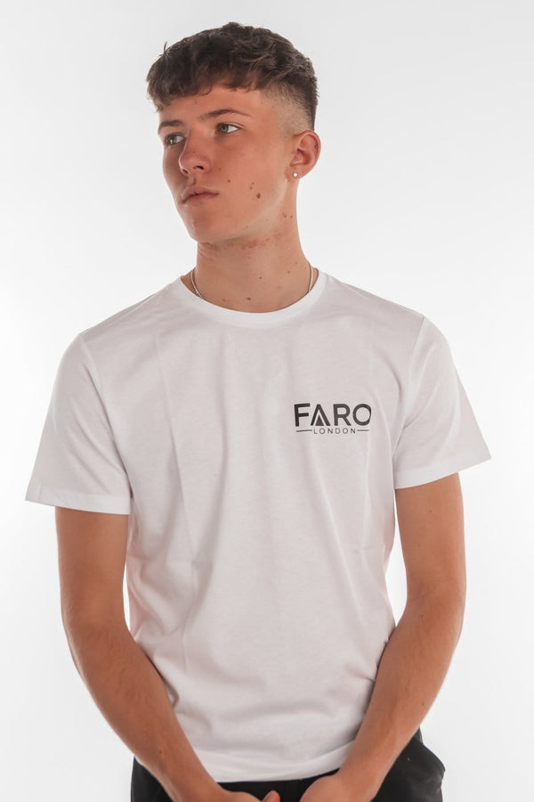 FARO LONDON SMALL LOGO T-SHIRT - WHITE