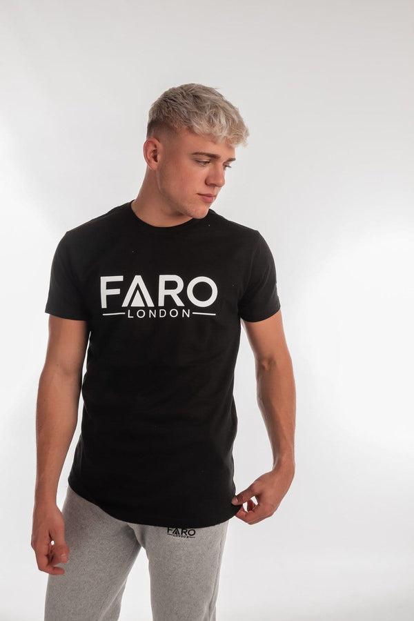 FARO LONDON LOGO T-SHIRT - BLACK