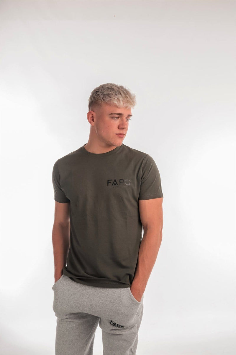 FARO LONDON SMALL LOGO T SHIRT - KHAKI