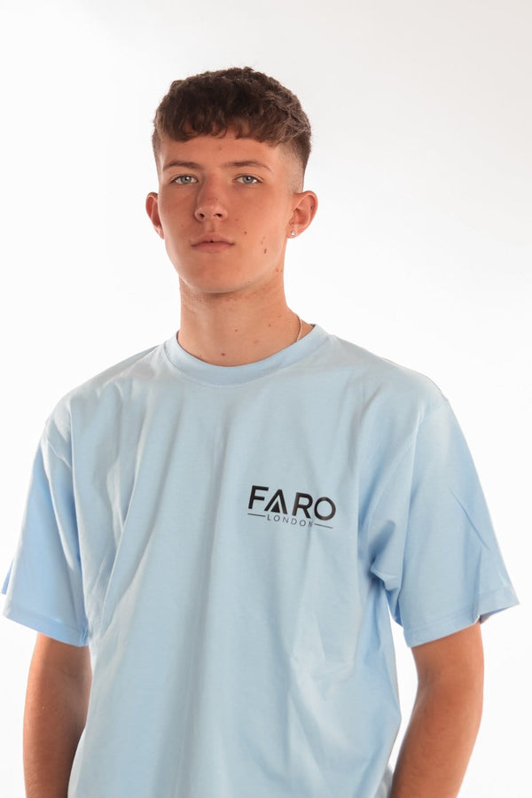FARO LONDON SMALL LOGO T-SHIRT - SKY