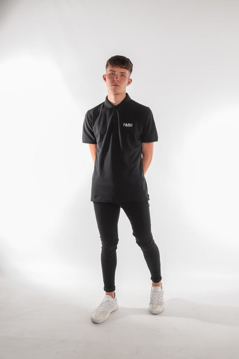 FARO LONDON POLO SHIRT - BLACK
