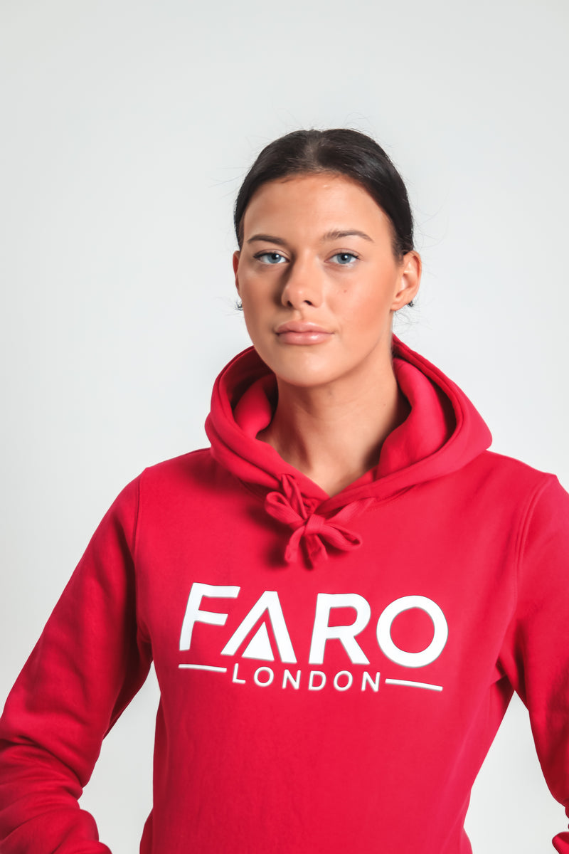 FARO LONDON WOMAN'S LOGO HOODIE - FUSHCIA PINK
