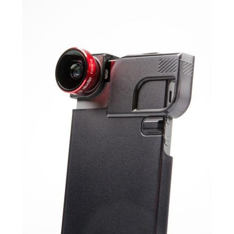 Quick-Flip Case & Lens System for iPhone 5/5s - Red/Black