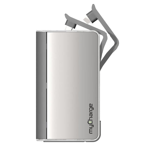 myCharge Hub 6000 mAh Power Bank, RFAM-0229 (Silver)