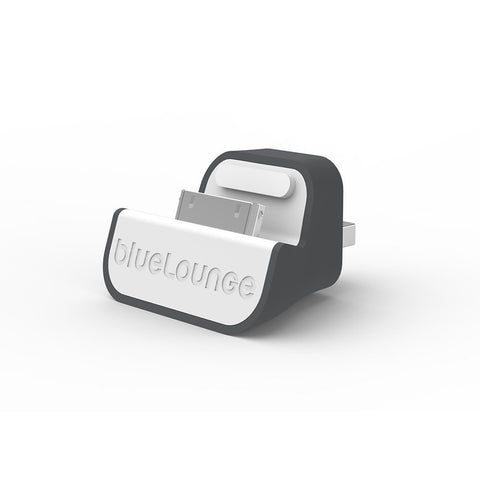 Bluelounge MD-US MiniDock USB Charger for iPhone & iPod - Retail Packaging - Gray/White