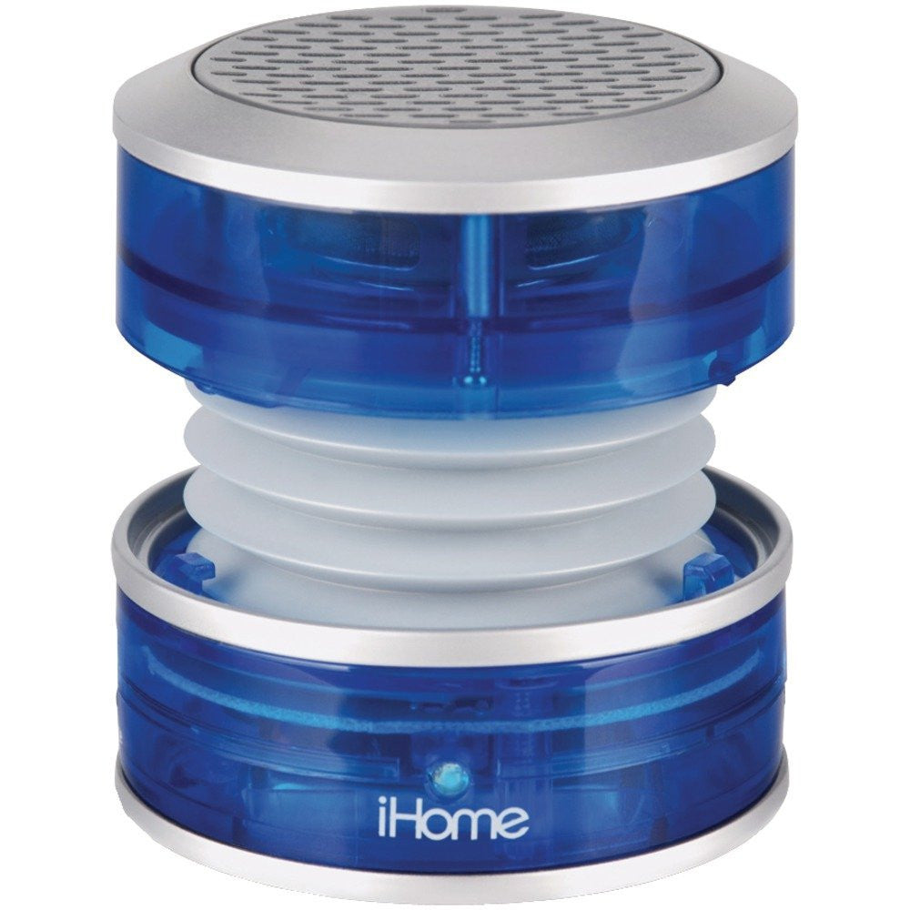 iHome IM60LT 3.5mm Aux Portable Speaker (Blue Translucent)