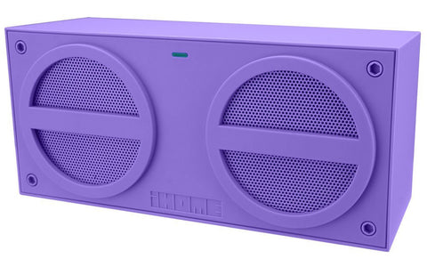 iHome iBN24UC Bluetooth Rechargeable Stereo Mini Speaker, Purple