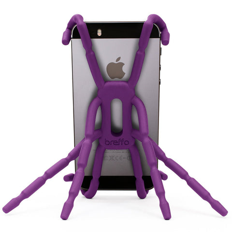 Breffo Spiderpodium Portable Stand / Car Mount Holder for iPhone 5S, 5C, 5, 4S, 4, Samsung Galaxy S4, S3, S2, S (Purple)