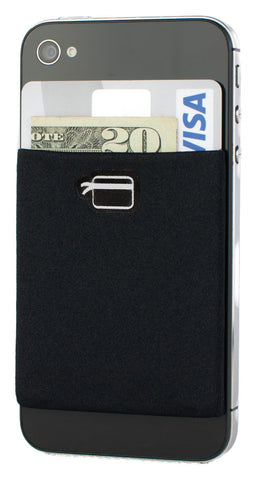 CardNinja Ultra-Slim Wallet for iPhone/Android/Blackberry/Windows Smartphones - Black