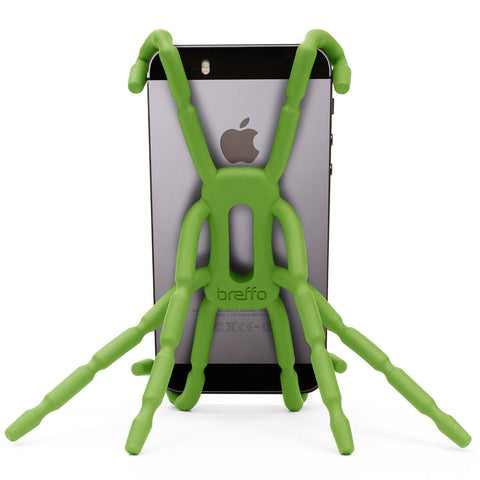Breffo Spiderpodium Portable Stand / Car Mount Holder for iPhone 5S, 5C, 5, 4S, 4, Samsung Galaxy S4, S3, S2, S (Green)