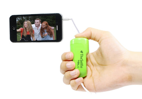 GabbaGoods #TheSelfie Camera Remote Shutter Release for Apple iPhone, iPad, and iPod touch - Retail Packaging - Green