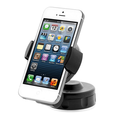 iOttie HLCRIO104 Easy Flex 2 Windshield Dashboard Car/Desk Mount Holder for iPhone 4S/5/5S/5C, Galaxy S4/S3, HTC One - Retail Packaging - Black
