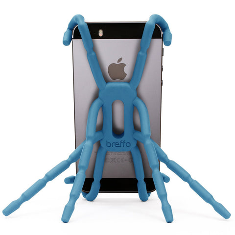 Breffo Spiderpodium Portable Stand / Car Mount Holder for iPhone 5S, 5C, 5, 4S, 4, Samsung Galaxy S4, S3, S2, S (Blue)