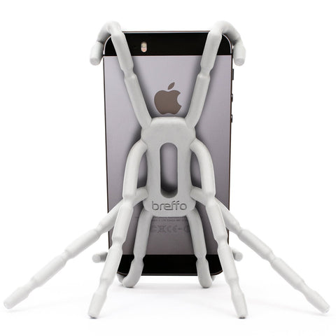 Flexible Universal Phone Car Holder Mount and Stand For iPhone 4S, 5 and Andriod Phones - Spiderpodium by Breffo (White)