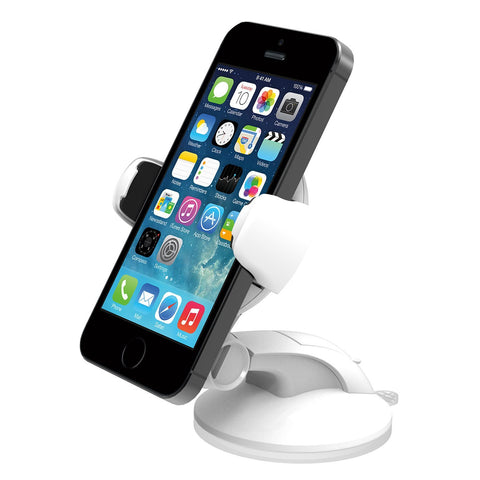 iOttie Easy Flex 3 Car Mount Holder Desk Stand for Apple iPhone 5s/5c/5/4s and Samsung Galaxy S4/S3 - Retail Packaging - White