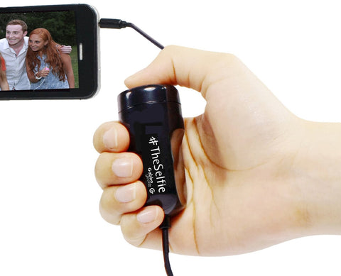 GabbaGoods #TheSelfie Camera Remote Shutter Release for Apple iPhone, iPad, and iPod touch - Retail Packaging - Black