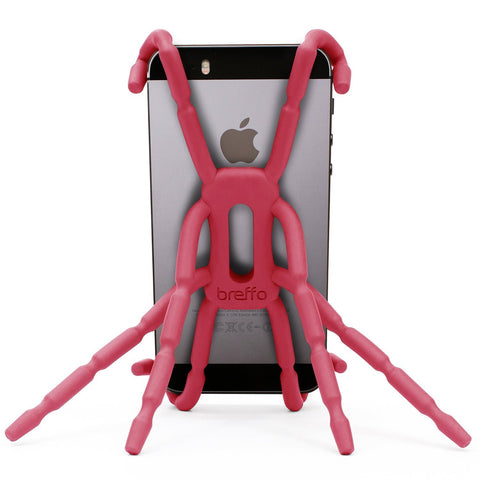 Breffo Spiderpodium Portable Stand / Car Mount Holder for iPhone 5S, 5C, 5, 4S, 4, Samsung Galaxy S4, S3, S2, S (Pink)