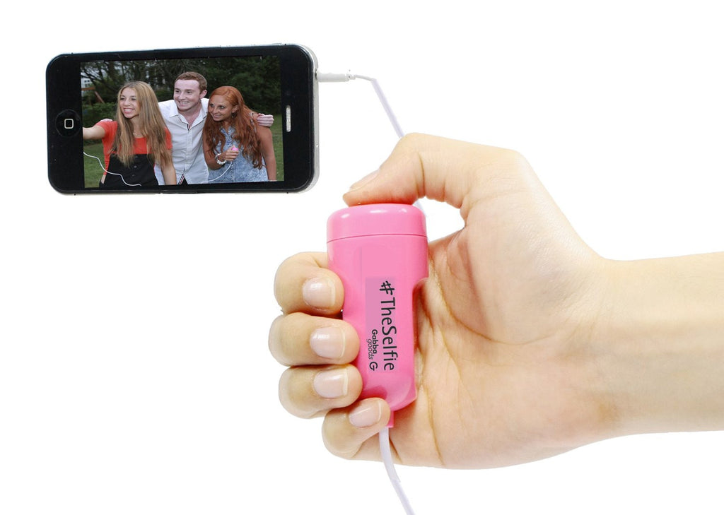 GabbaGoods #TheSelfie Camera Remote Shutter Release for Apple iPhone, iPad, and iPod touch - Retail Packaging - Pink