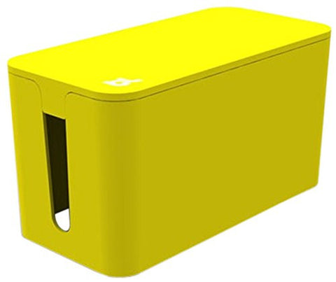 Bluelounge CableBox Mini Yellow - Cable Management - Small Surge Protector Included