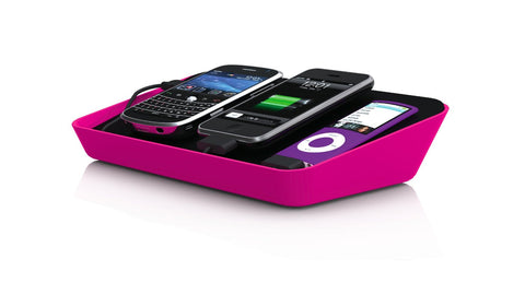 Bluelounge Design RF-PNK Refresh Charging Station for iPhone, iPod, & Other USB Ready Devices - Charger - Retail Packaging - Pink