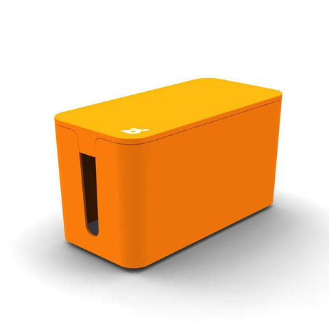 Bluelounge CableBox Mini Orange - Cable Management - Small Surge Protector Included