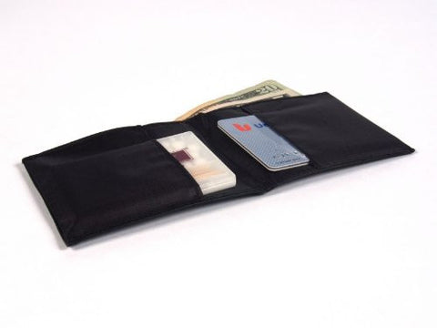 All-Ett Black Leather Sports Billfold Wallet